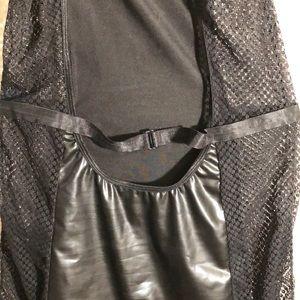 Frederick's of Hollywood Intimates & Sleepwear - FREDERICKS OF HOLLYWOOD BLACK FAUX LEATHER CHEMISE